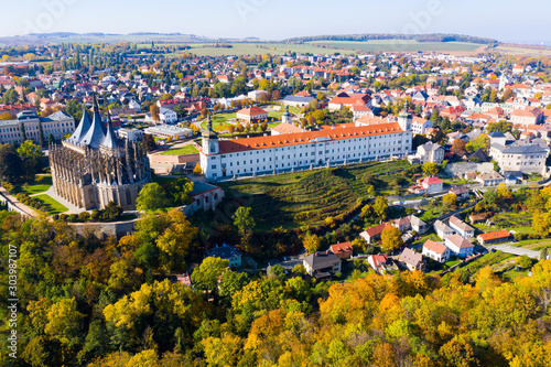 Cityscape of Kutna Hora, Czech Republic Canvas Print