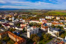 Aerial View Of Krnov Cityscape...