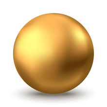 Gold Sphere Or Oil Bubble Isol...