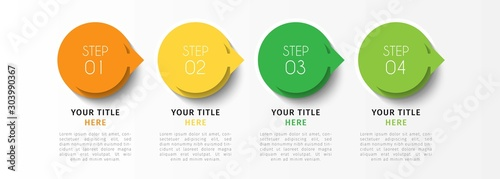 Photo  Vector infographic design template with 4 options or steps