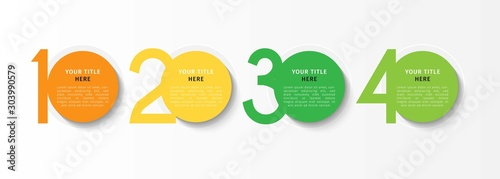 Fotomural  Vector infographic design template with 4 options or steps