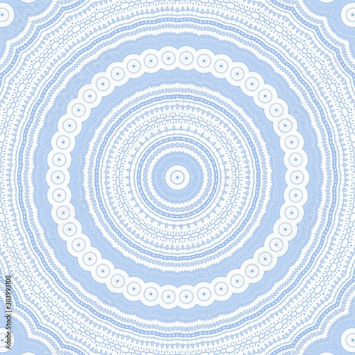 Photo blue pattern kaleidoscope abstract background. mandala boho.