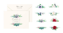 Set Of Beautiful Floral Labels...