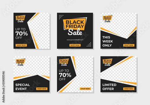 Black Friday Sale Banner for Social Media Post Obraz na płótnie