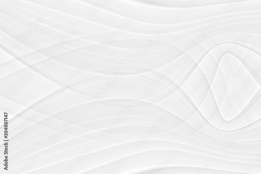 White 3 d background with wave illustration, beautiful bending pattern for web screensaver. Light gray texture with smooth lines for a wedding card.