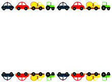 Four Kids Cartoon Cars (red, Y...