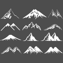 Mountain Icon Logo Vector Design Symbol