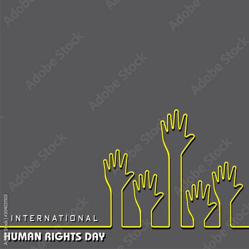 International Human Rights Day -10 December Wall mural