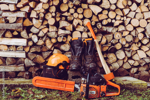 Valokuva woodcutter equipment - the woodcutter serie