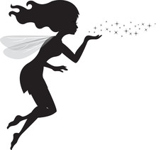 Fairy Black Silhouette With A ...