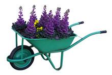 Green Garden Cart Overflowing ...