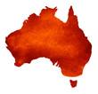 Leinwandbild Motiv Watercolor background as silhouette. Australia