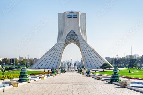 Beautiful view of the Azadi Tower (Freedom Tower), Tehran, Iran