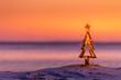 canvas print picture - Coastal summer Christmas in Australia