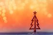 Leinwanddruck Bild - A Christmas by the beach