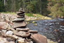 Pile Of Stones On Stony River ...