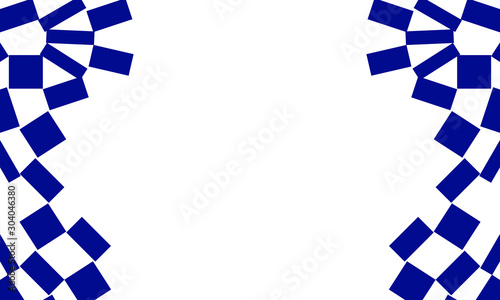Cuadros en Lienzo  Blue geometric background, vector illustration