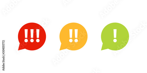 High Medium Low priority icon set. Clipart image isolated on white background
