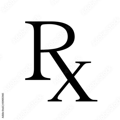 Photo Medicine symbol Rx prescription