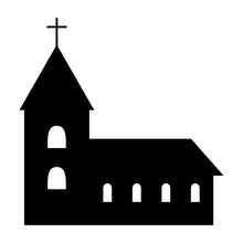 Church Icob Silhouette. Vector...