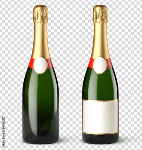 Bouteilles de champagne vectorielles 8 Canvas Print