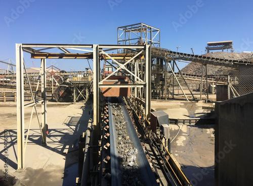 feeder conveyor belt copper mine processing plant Canvas-taulu