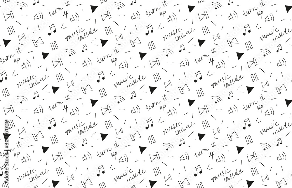 Fototapeta Pattern music player abstract vector