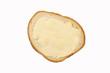 Leinwandbild Motiv Bread and butter isolated on white background.