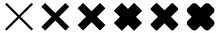 Cross Icon Black | Crosses | Cancel Symbol | Wrong Illustration | Logo | X Sign | Isolated | Variations