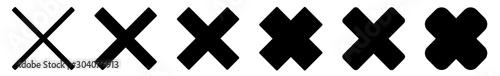 Photographie Cross Icon Black | Crosses | Cancel Symbol | Wrong Illustration | Logo | X Sign