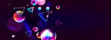 Blue Dark Retro Futuristic Neon Abstraction Background Cosmos