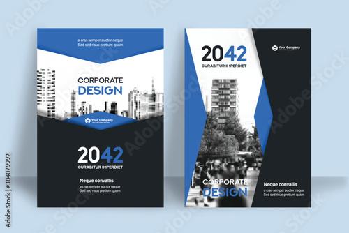 Fotografía  City Background Business Book Cover Design Template