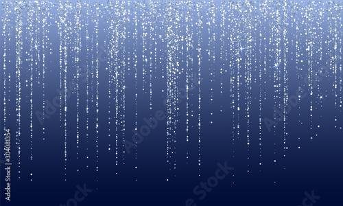 Falling in lines silver glitter confetti garlands dots rain Wallpaper Mural