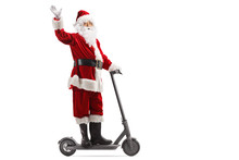 Santa Claus Waving From An Ele...