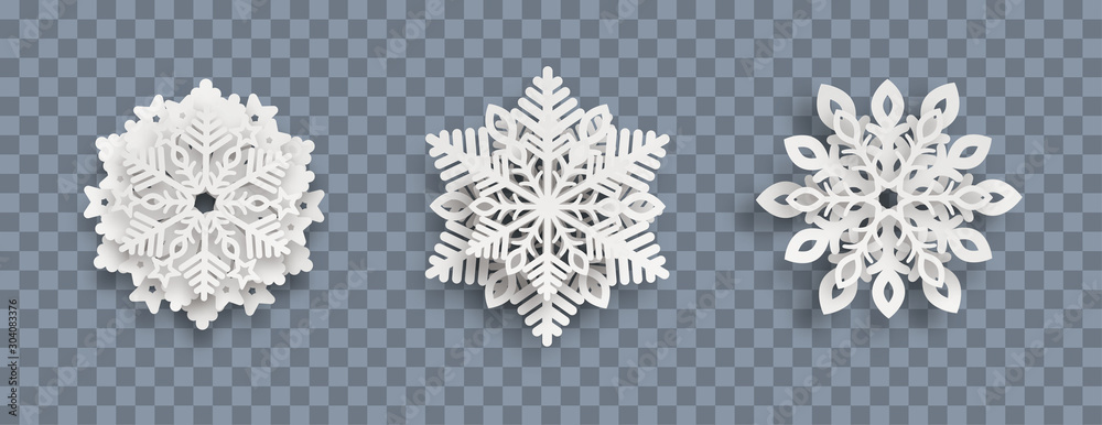 Obraz Abstract Snowflakes Header Transparent fototapeta, plakat