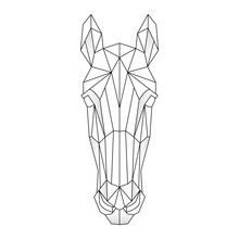 Horse Head Icon. Abstract Tria...