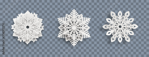 Abstract Snowflakes Header Transparent Wallpaper Mural