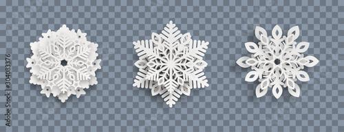 Cuadros en Lienzo Abstract Snowflakes Header Transparent