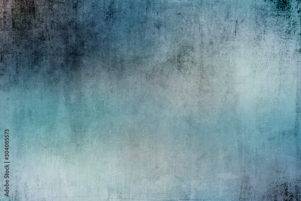 Fototapeta Old blue wall grungy  backdrop