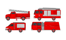 Fire Engine Vector Set. Emerge...