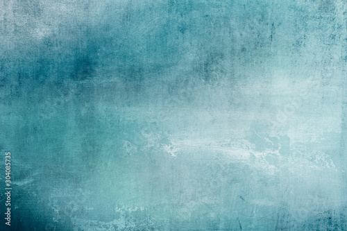 grungy blue stained canvas background or texture Wallpaper Mural