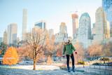 Fototapeta Nowy Jork - Adorable girl in Central Park at New York City