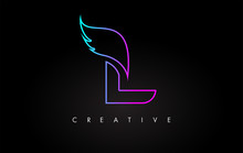 Neon L Letter Logo Icon Design...