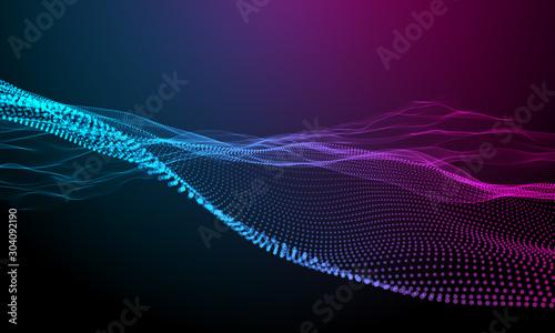 Fototapeta  forma, sfondo, astratto, tecnologia futuristica, particelle, informatica obraz