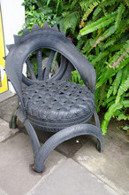 Chair Made Of Tire. Recycling,...
