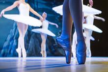 Legs Of Ballerinas Dancing In ...