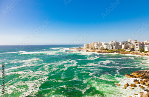 view of Bantry Bay and  apartments in Cape Town South Africa Canvas Print