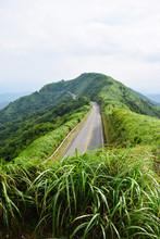 Road And Green Mountain, Yangmingshan National Park, Taiwan