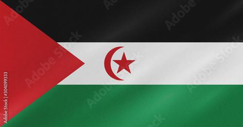 Drapeau de la République arabe sahraouie démocratique Fototapet