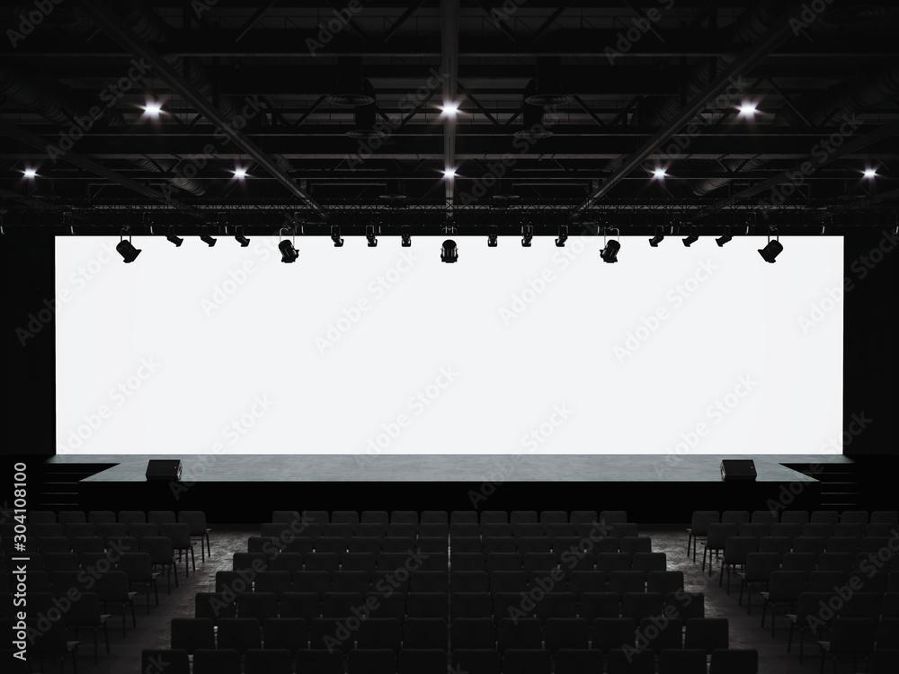 Fototapeta Conference hall mockup screen